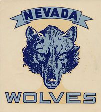 University of Nevada _RARE 40's College Decal vtg NCAA Wolf Pack Reno Alphie UNR