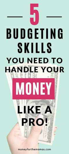 If you want to be a rockstar at budgeting finances then you have to have these 5 budgeting skills! Learning how to organize your money doesn't have to be hard or confusing, just get some simple habits in place so you can use your money for your big goals; like being debt-free, getting a money saving plan in place, or just affording the small things that make you so happy! Better money management can be easy, just start right here! budgeting #bugetingfinances #moneyforthemamas Budgeting Process, Budgeting Finances, Budgeting Tips, Money Saving Tips, Saving Ideas, Household Budget, Make Easy Money, Budgeting Worksheets, Financial Tips
