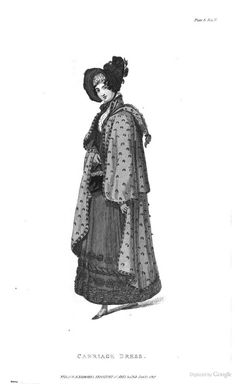Carriage Dress, 1818. The Repository of Arts, Literature, Fashions, Manufactures,  - Google Books