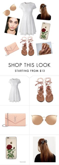 """""""..."""" by alexis123young on Polyvore featuring Yves Saint Laurent and Linda Farrow"""