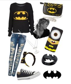 - Batman Clothing - Ideas of Batman Clothing - Batman Love, Batman Vs Superman, Batman Stuff, Batman Girl, Batman Hoodie, Nerd Fashion, Punk Fashion, Womens Fashion, Lolita Fashion