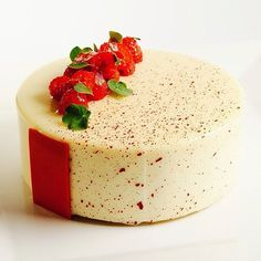 Raspberry White Chocolate Entremet #theartofplating #chefstalk by Pastry Chef Antonio Bachour, via Flickr