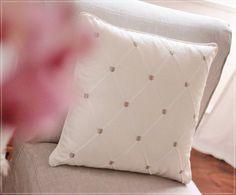 Designer Ecru Taupe White Pillow  Clarke & Clarke by emeisonCOM