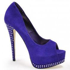 Peep Toe Heels; Looking good in blue, they'd be cute in black too!
