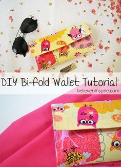 DIY Wallet Tutorial - Free Sewing Tutorial on believeninspire.com