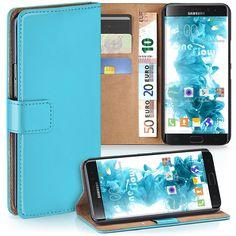 Hülle Cover mit Kartenfächern   Flip Case Etui Handyhülle zum Aufklappen   Handytasche Schutzhülle Zubehör Handy Schutz Bumper in Türkis