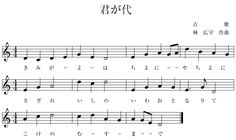 """Japanese National Anthem - Kimigayo: """"The Japanese national anthem (kokka) is """"Kimigayo."""" When the Meiji period began in 1868 and Japan made its start as a modern nation, there was no Japanese national anthem. In fact the person who emphasized the necessity of a national anthemwas a British military band instructor, John William Fenton."""""""