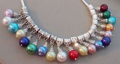 Beautiful Birth Month  Pearl Charm For Euroean by PersnicketyPatty, $5.00