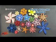 Paper Quilling; Happy Birthday Greeting Card - Best Wishes - Quilling Flowers - YouTube