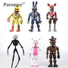 6/12PCS a Set Five Nights At Freddy's Action Figure Toys FNAF Chica Bonnie Foxy Freddy Fazbear Bear Anime Figures Freddy Toys #Affiliate