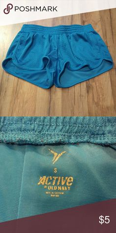 Small bright blue athletic shorts Great condition Old Navy Shorts