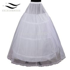 >> Click to Buy << Hot Sale Cheap Price 2 layer 3 Hoop Elastic Waist Bridal Gown Dress Petticoat Underskirt #Affiliate
