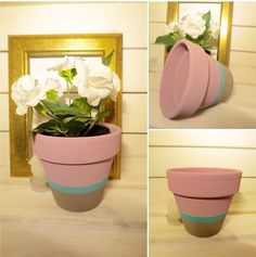 Candy colours are big this year - give your windowsill a quick makeover with one of our colour block candy stripe flower pots. More info on our website!
