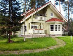 Model Lapland log house – wooden house with an inspiration from northern Finland by Rovaniemi Log House (www. Lappland, Reading Room Decor, Construction, Wooden House, Log Homes, Architecture, Logs, Beautiful Homes, Building A House