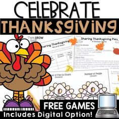 Thanksgiving Math Games Google Slides by Think Grow Giggle   TpT Problem Solving Activities, Math Games, Math Activities, Game Google, Thanksgiving Activities, Student Learning, Free Games, About Me Blog, Teaching