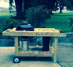 how to build a weber grill table - Google Search