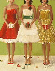 "Janet Hill - ""Christmas Belles"""