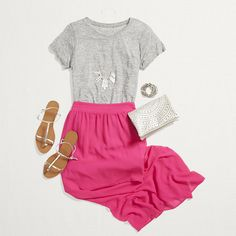 Could I have this top in my next fix, please? It'll be August 2015.  Stylist Tip: New Ways to Wear a Tee (best-selling heather-colored Sam)