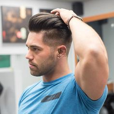Short Hairstyles For Men - Undercut with Textured Slick Back