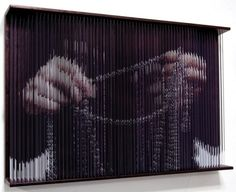 Intimate String Portraits  3-D string sculptures created by Korea-based artist Hong Sungchul.