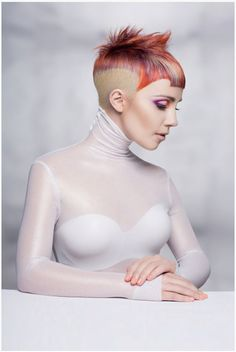 To kick off the excitement of the North American Hairstyling Awards (NAHA), MODERN and the Professional Beauty Association (PBA) bring you the 2015 NAHA finalists. Peach Hair Colors, Creative Haircuts, Hair Cutting Techniques, Editorial Hair, Naha, Crazy Hair, Hair Art, Hair Looks, Hair Inspiration