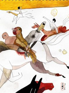 "Saatchi Art Artist Emma Vakarelova; Drawing, ""The day I was a centaur"" #art"
