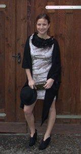 DIY Ruffled Neckline Dress - Fashion Bulb DIY Clothing