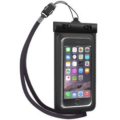 TETHYS Waterproof Case for Apple iPhone 6 5S 5C 5, Samsung Galaxy S6 and S6 Edge S5 S4 - [Black] Universal Ultrapouch Waterproof Pouch with Touch Responsive Front and Back Transparent Screen Protector Windows [One Year Warranty] fits any version of iPhone 6S 4S 4 3, iPod Touch; LG Optimus G2, G2 Mini,G Pro; HTC One M8,M7,M4,Mini;Google Nexus 5 4;MP3 Player(A.K.A IPX8 Certified Protective Smartphone Credit Card Waterproof Bag Life Case)[Not Compatible with iPhone 6 Plus 5.5inch/Galaxy Note 4…