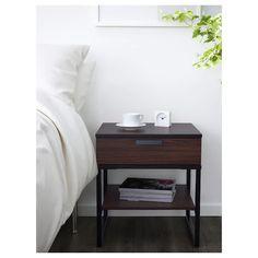 TRYSIL Nightstand - dark brown, black - IKEA  $39