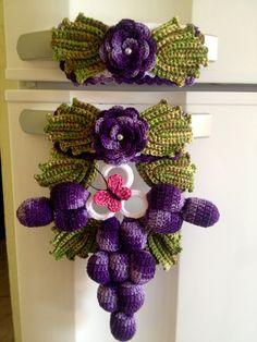 Puxador de geladeira uva (par)