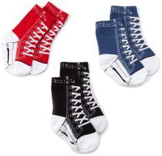 Tic Tac Toe Baby-boys Newborn Sneakers Socks