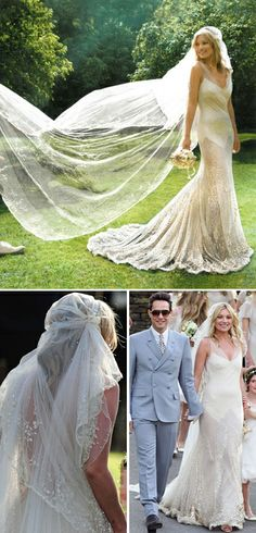 Kate Moss' 1920s-inspired wedding gown designed by John Galliano in 2011 | Becky J: Wedding Dress Wednesday: Great Gatsby Inspiration