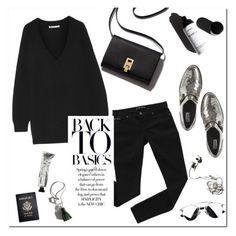 Black and Silver by mjangirashvili on Polyvore featuring polyvore fashion style T By Alexander Wang Bardot Garance Doré Passport clothing