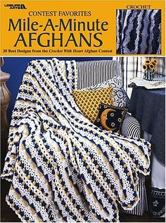 The afghan is crocheted using worsted weight yarn and a size H (5.00 mm) hook.
