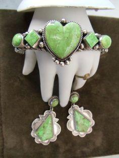 Native American Navajo Bracelet and earring  set on Etsy, $375.00