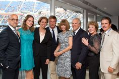 Stanley Tucci and his wife Felicity Blunt, Mary Carillo, Alec Baldwin, Anna Wintour, USTA Chairman of the Board and President Jon Vegosen, USTA Serves Executive Director Deborah Larkin and USTA Serves Board Member Sean Mayo at the 12th Annual USTA Serves Opening Night Gala at the US Open. -