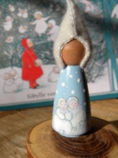 Waldorf Schnee Kinder Peg Puppe Doll Story von MamaWestWind auf Etsy