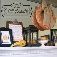 A beautiful, inexpensive, easy-to-do fall mantel filled with lots of DIY projects!