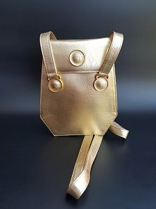 Versace Bag Gianni Versace Vintage Light Gold Leather Shoulder Bag With Long Straps Versace Bag Leather Shoulder Bag Gold Leather