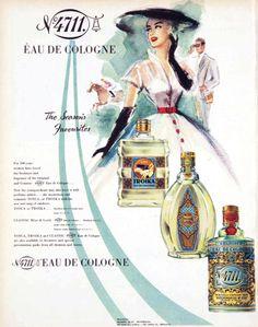 vivatvintage: 4711 cologne ad, 1953,