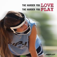 Softball players: The more you love the game, the better you will play! Never forget why you started. #Softball #Quotes