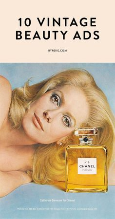 From Chanel, to Maybelline, to Covergirl: 10 vintage beauty ads from your all-time favorite beauty brands. // #Vintage #Beauty