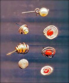 Stud Earrings Tutorial...WireWorkers Guild: STUD EARRINGS #diystudearringstutorials