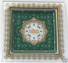 Passover Matzah tray glass with gold imprint, made in Israel. Matzo Matsa  unleavened Bread Plate kosher for pesach jewish tradition | eBay