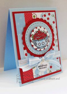 Birthday by stampinsusie - Cards and Paper Crafts at Splitcoaststampers Sharon Johnson, Ink Stamps, Color Blocking, Stamping, Card Ideas, Cherry, Playing Cards, Card Making, Paper Crafts