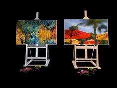 4 prim scripted painting easel in chrome- classic dulce