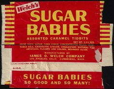 Welch's - (Chocolate) Sugar Babies - candy package - 1950's 1960's | Flickr - Photo Sharing!