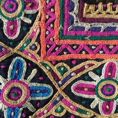 Kutch embroidery detail www.maudinteriors.com