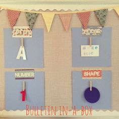 No Fabric Bulletin Board Package Focus Wall by bulletininabox, $22.99