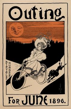 Outing Magazine Bicycle Poster